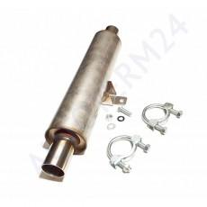 Schalldämpfer (rund) mit Einbausatz Ø38mm