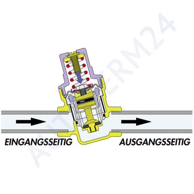 Druckminderer einstellbar 1-6 Bar mit Manometer (Druckanzeige)