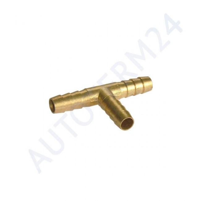 T-Stück Schlauchverbinder aus Messing 10mm