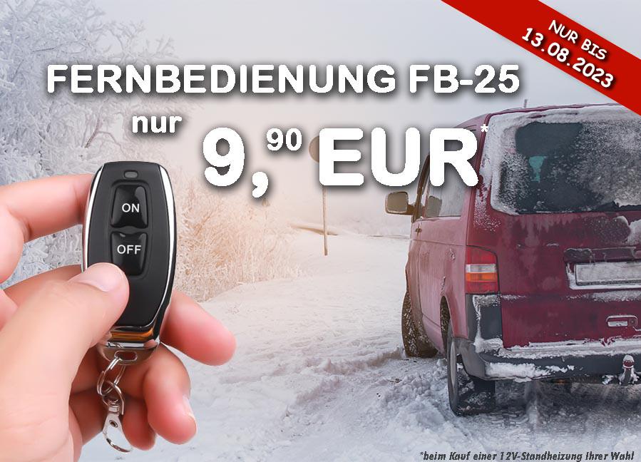 Aktion: Fernbedienung FB-25 für nur 9,90 EUR! NUR BIS ZUM 31.01.2020